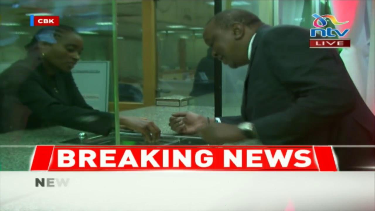 President Uhuru Kenyatta unveils new Kenyan currency at Central Bank