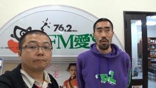 会津若松のFM局でなすびさんがいっぱい写真撮られてました