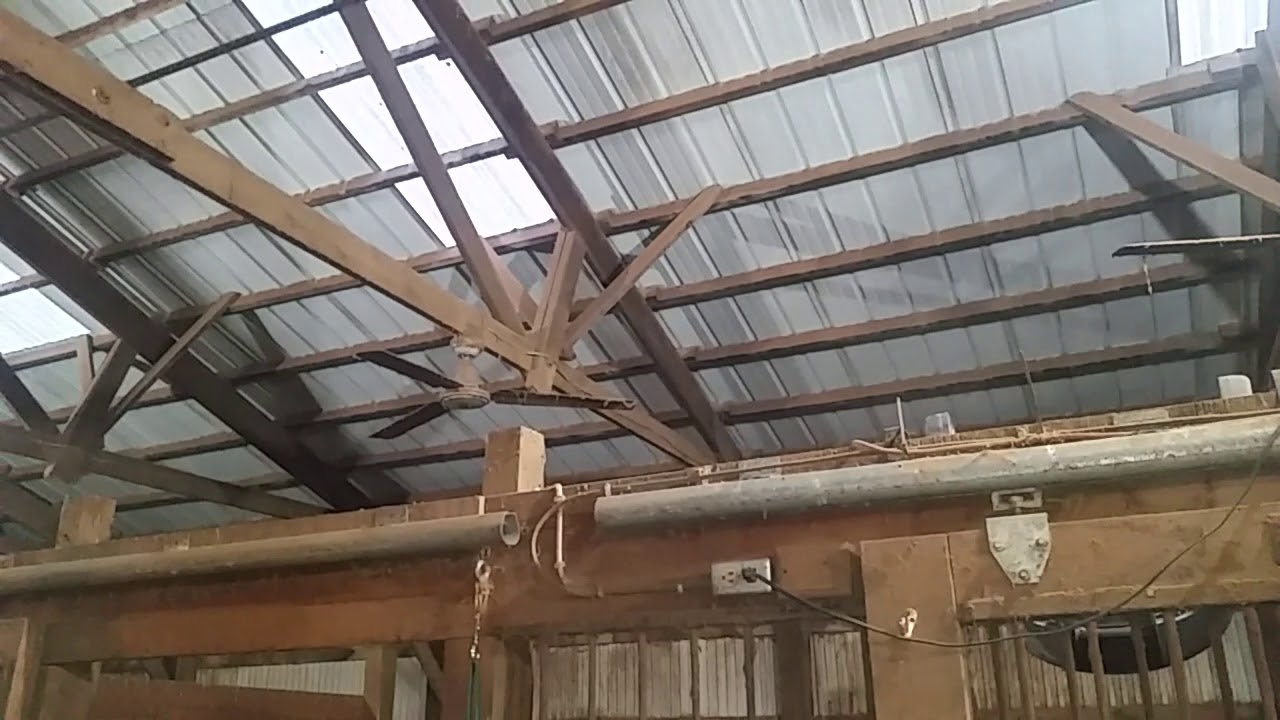 Encon Commercial Ceiling Fans And Box In A Horse Barn