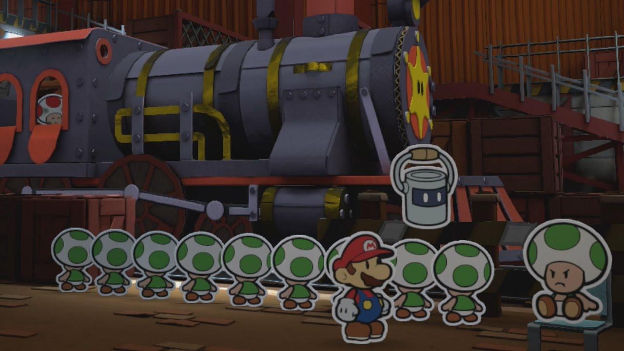 Toad Trainworks (Mini Star 1) - Paper Mario: Color Splash ...