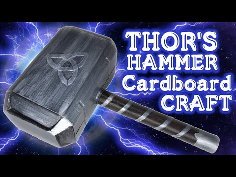 Thor's Hammer DIY Cardboard Craft - Cosplay | D Workshop