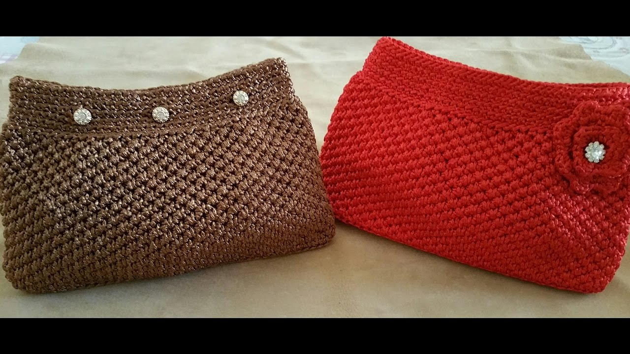 Pochette Uncinettocrochet Clutchembrague De Ganchillo Youtube