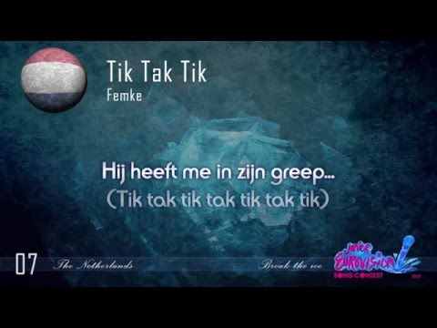 "Femke - ""Tik Tak Tik"" (The Netherlands) - [Karaoke version]"