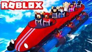Building A ROLLER COASTER In ROBLOX! *INSANE*