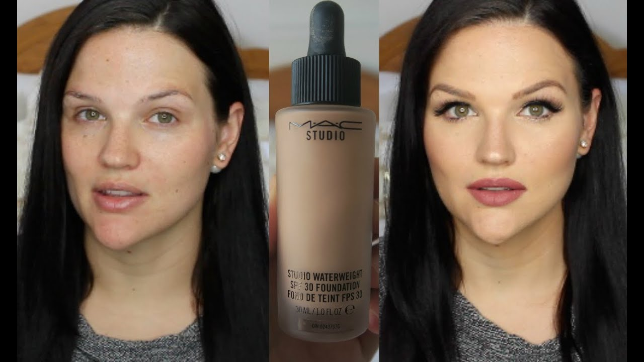 NEW MAC Studio Waterweight SPF 30 Foundation | First Impression + Review