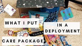 WHAT TO PUT IN A MILITARY CARE PACKAGE! | USMC FIANCEÉ