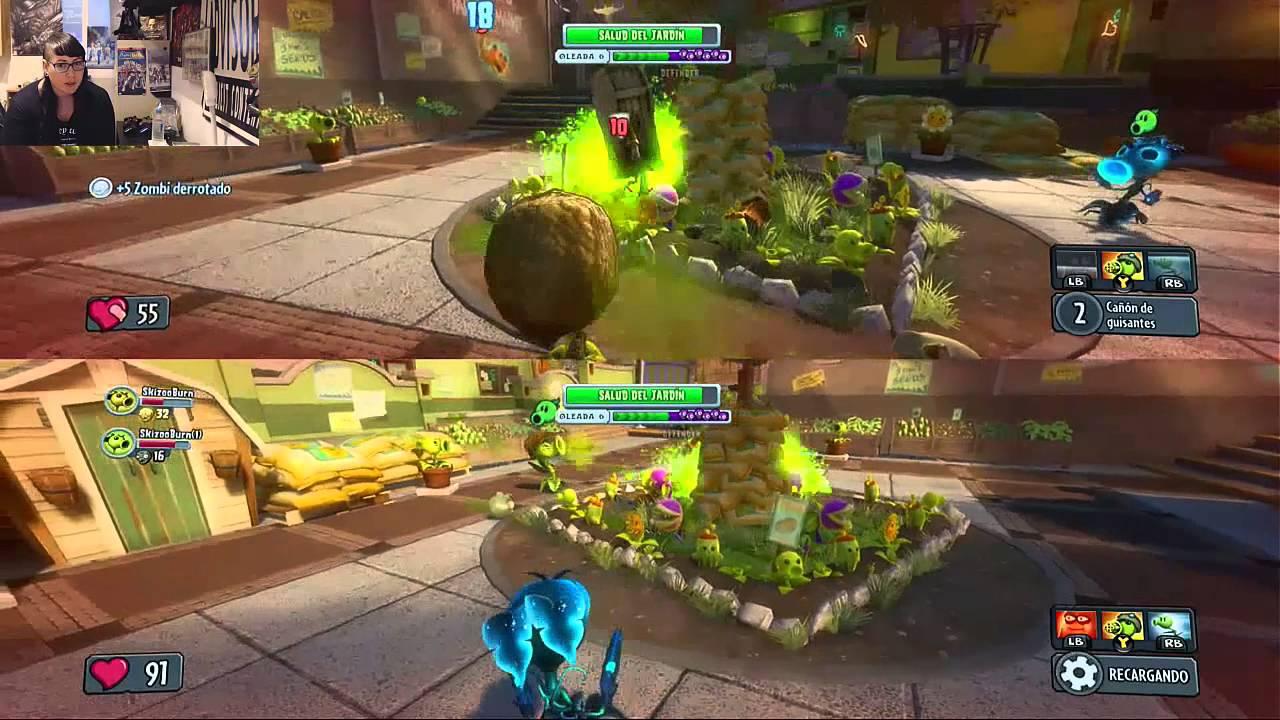 Plantas Vs Zombie Modo Horda 2 Jugadores Pantalla Partida Part 24