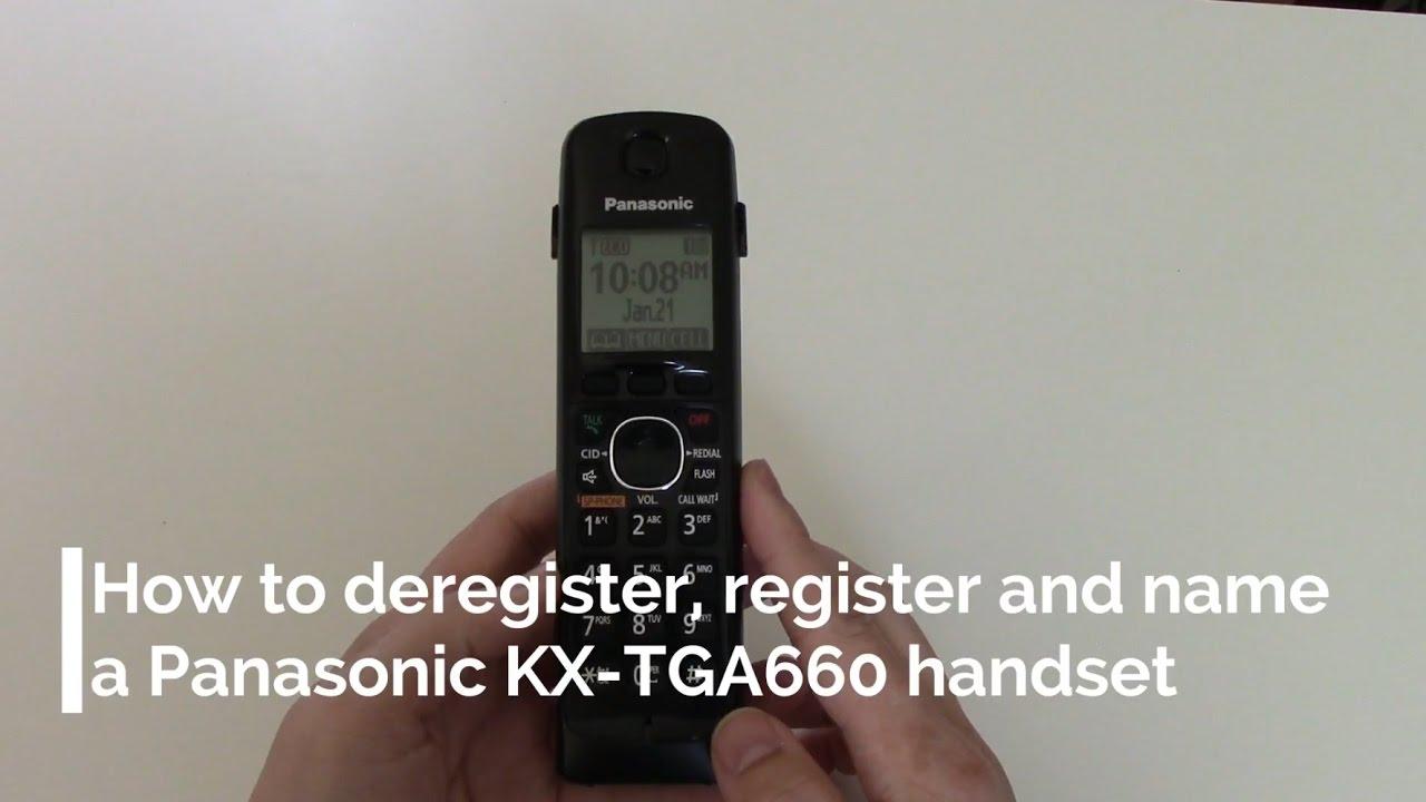 PANASONIC KX-TGA660 CORDLESS PHONE TELEPHONE HANDSET
