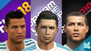 FIFA18 vs DLS vs PES2018: REAL MADRID FACES COMPARISON