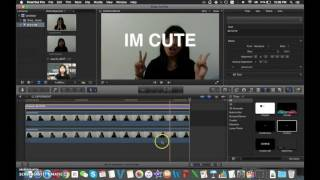 Final Cut Pro: How to put text behind moving objects (draw mask etc)