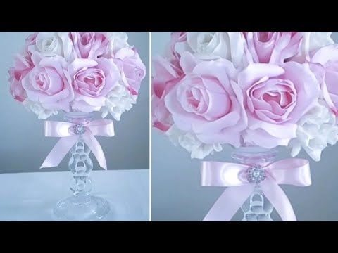 DIY| MULTI COLOR ROSE CRYSTAL CANDLE HOLDER/ WEDDINGS,  MOTHER'S DAY,  SPECIAL EVENTS