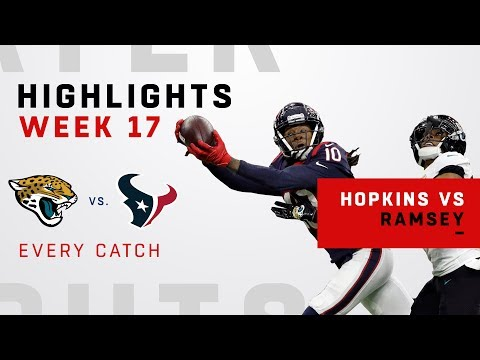 Every DeAndre Hopkins Catch vs. Jalen Ramsey in Week 17