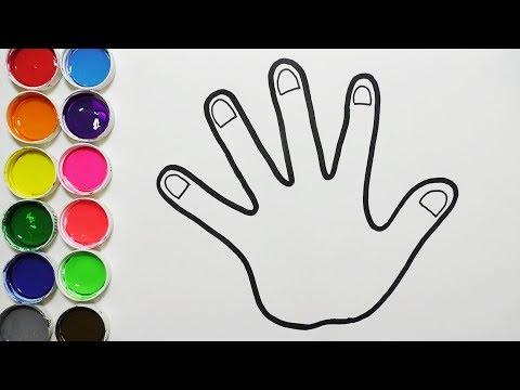 Dibuja Y Colorea Mano De Arco Iris - Dibujos Para Niños - Learn Colors / FunKeep