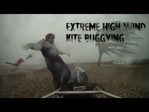 Extreme high wind kite buggying