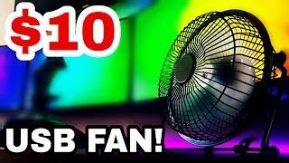 $10 Desktop USB Fan! Most In-Depth Fan Review on YouTube...