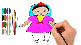 How to draw baby  doll colouring pencil,learn to draw, drawing choice