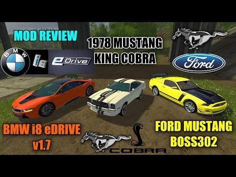 "Farming Simulator 15 - Triple Sports Car Review JFF Mods (Just For Fun) ""Mod Review"""