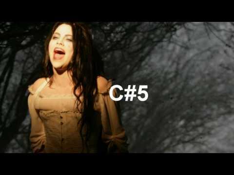 Amy Lee Vocal Range Eb3-E6