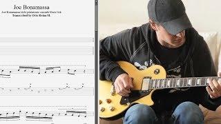 Joe Bonamassa style pentatonic cascade blues lick - Best licks (animated tab - Fast & slow)