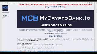 Mycryptobank 99$ FREE Airdrop Last Date 17 August 2018 In  Hindi/Urdu