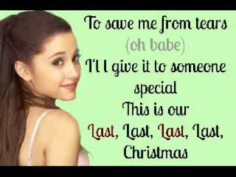 Last Christmas - Ariana Grande (Lyrics ♥) - YouTube