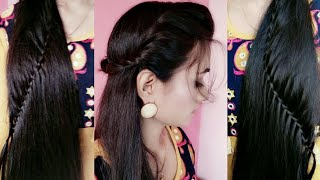 Style Your Open HAIR|| Easy Rope Waterfall Braid|| For Medium to Long hair