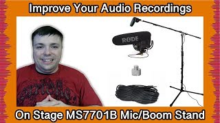 Improve Your Audio and Reduce Noise - On Stage Stands MS7701B Microphone Stand Review