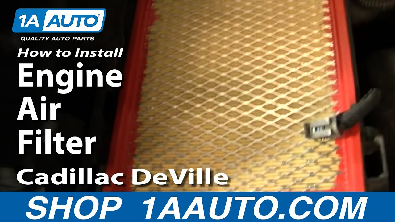 How To Install Replace Engine Air Filter Cadillac Deville