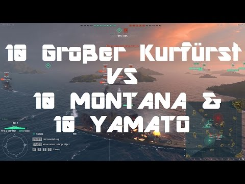 10 Grosser Kurfurst vs 10 Montana & 10 Yamato