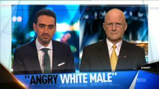 Non-angry white male Senator Leyonhjelm talks to The Project panellists about section 18C