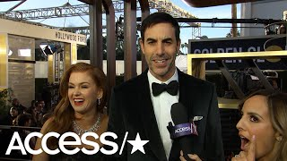 Sacha Baron Cohen & Isla Fisher Joke That They're Down With 'Limo Love' | Access