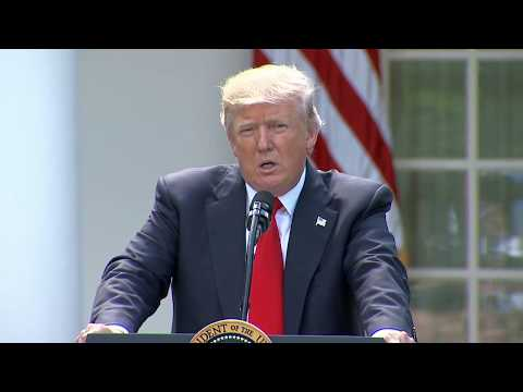 President Trump withdraws US from Paris climate change agreement (full remarks)
