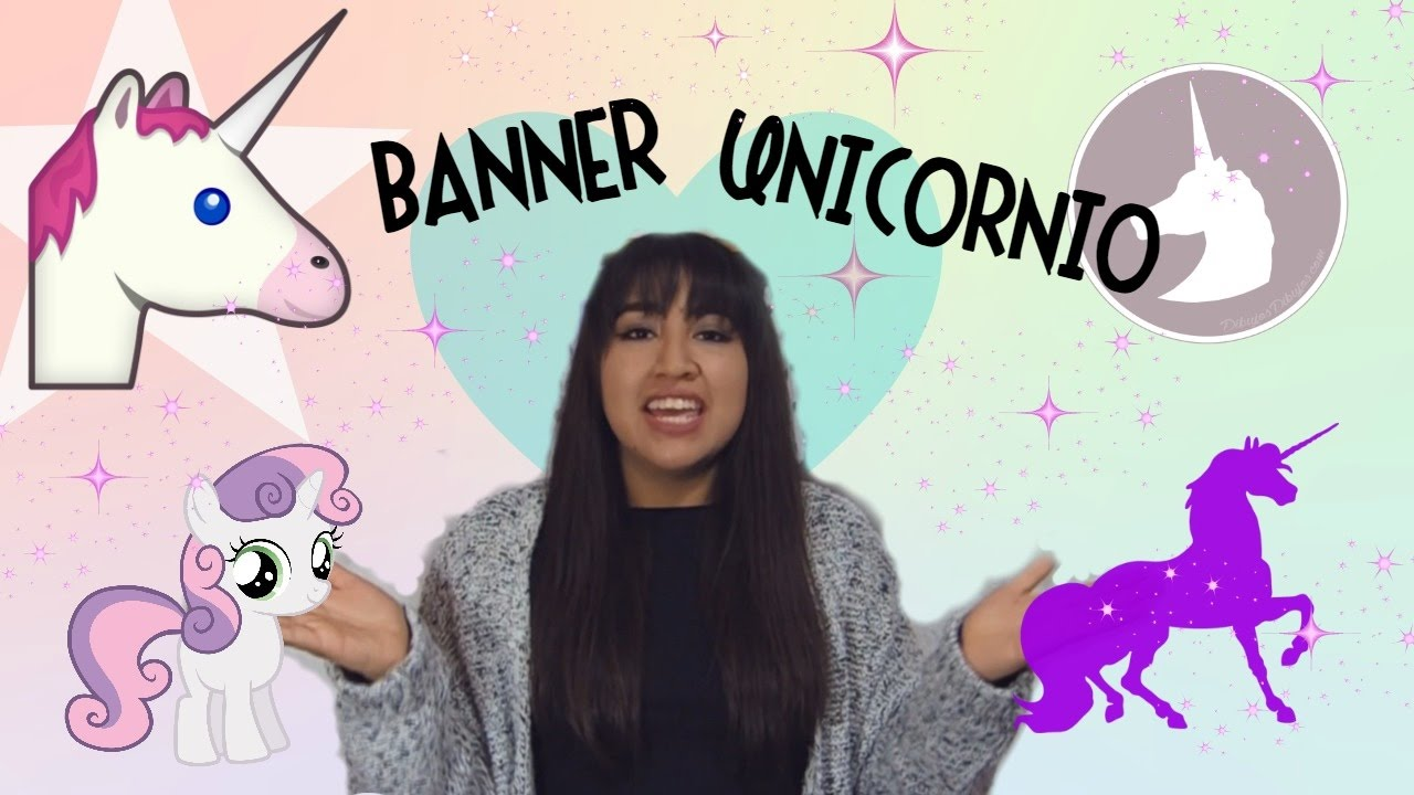 Diy banner de unicornio decora tu cuarto youtube for Cuarto de unicornio