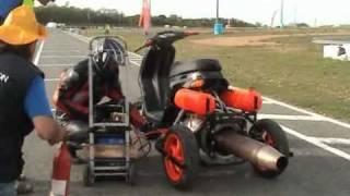 voici une démonstration avec mon scooter a réaction (noelle 60 / 80)