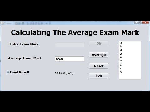 How to Calculate Examination Average Marks In Java NetBeans