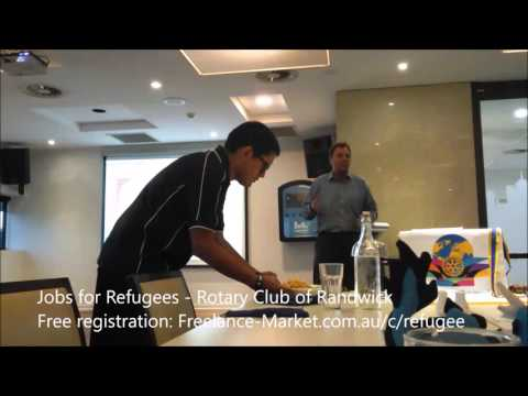 Jobs for Refugees - Lecture at Rotary Randwick Australia