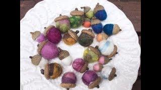 羊毛ボールの失敗しない作り方①・どんぐりを作ろう・暮らしを豊かに*幼児教育・保育❤︎How to make Beautiful Wool Ball❤︎子ども#391