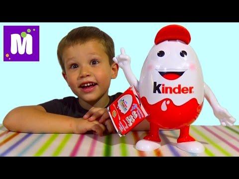 Видео: Киндерино большое яйцо с сюрпризом распаковка