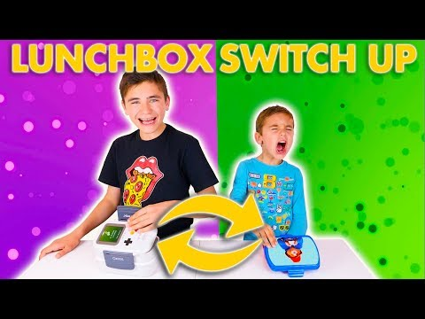 LUNCHBOX SWITCH UP CHALLENGE !!! - Swan VS Néo
