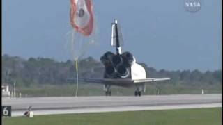 The last landing of the Space Shuttle Atlantis on the STS-132 mission