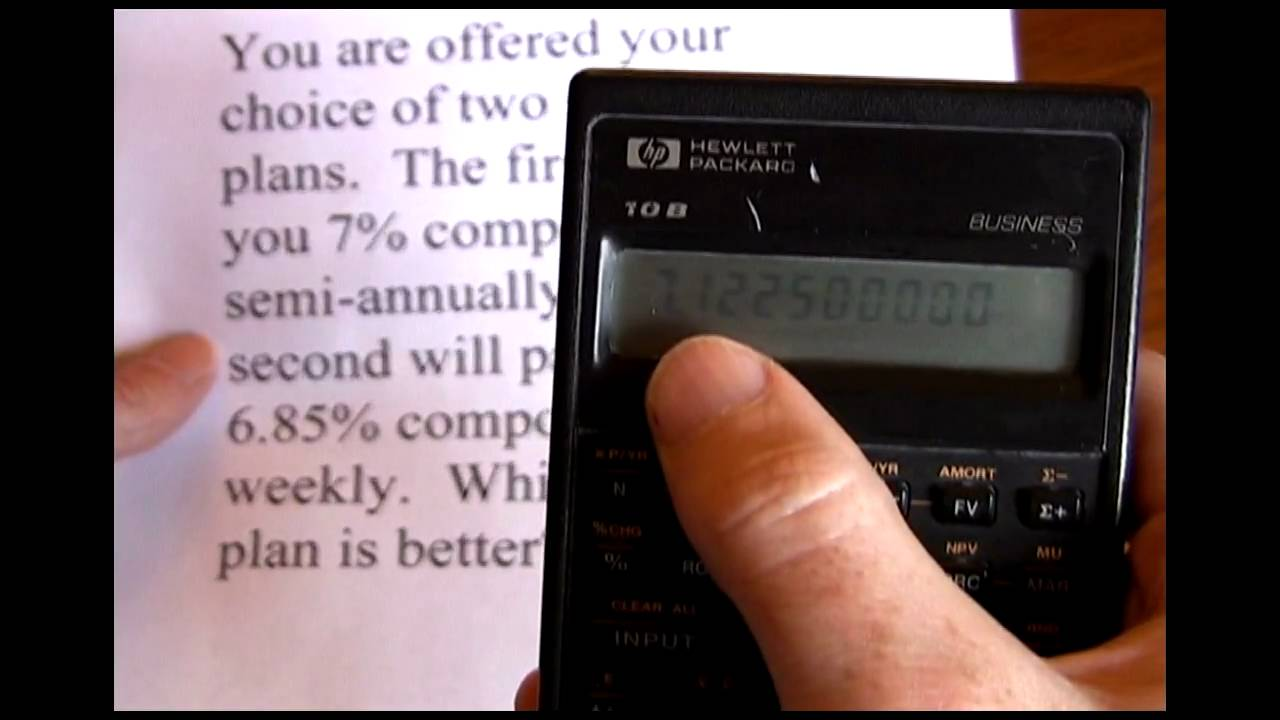 Effective Annual Rate HP - YouTube