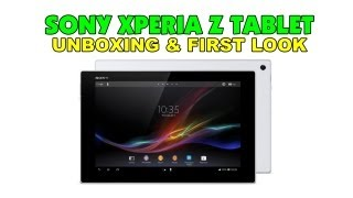 Sony Xperia Tablet Z Unboxing & First Look - White 32GB