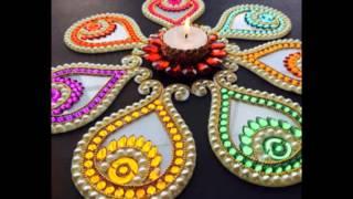Rearrangeable kundan rangoli designs