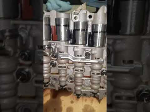 2007 vw jetta 2.5 automatic transmission valve body removal shifts hard when hot or warmed up