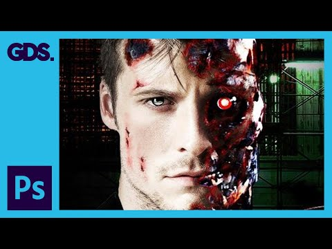 60. [Ps] Terminator Effect - Photoshop Tutorial [In Hi... | Doovi