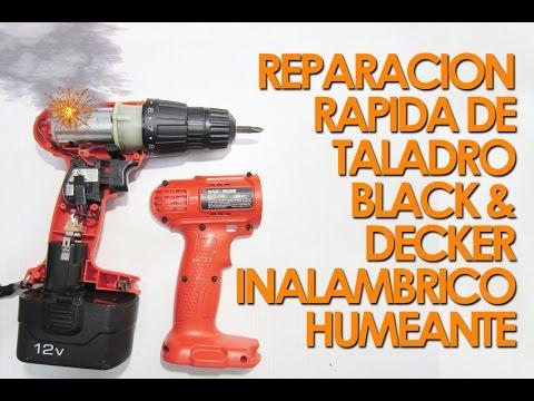 Reparacion de taladro inalambrico humeante Black & Decker 12v