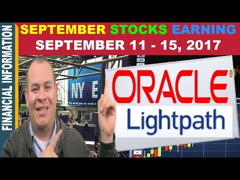 September Stocks Earnings 📊| LightPath Technologies, Oracle | Week of September 11 – 15 📆