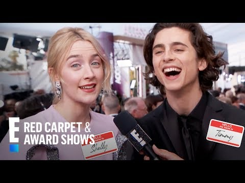 Saoirse Ronan & Timothee Chalamet Talk Names Being Butchered | E! Red Carpet & Award Shows