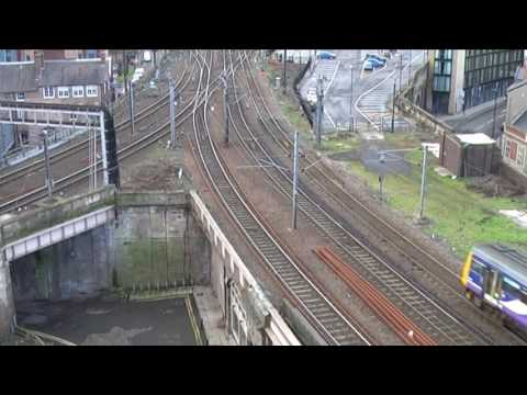 Rail Action at Newcastle Central Station part2