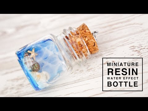 Miniature Resin Water Effect Bottle Charm
